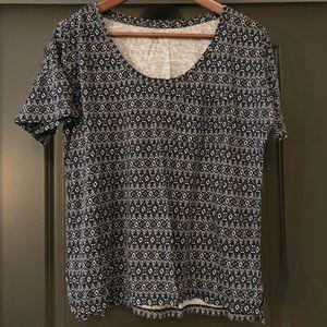 Loft Ann Taylor Womens Shirt Size S Blue White